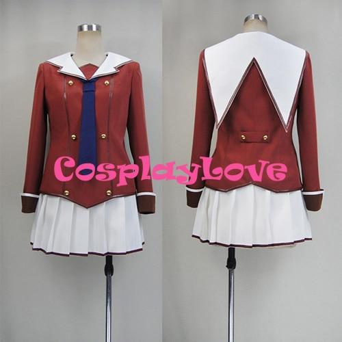 New Custom Made Japanese Anime Inou Battle wa Nichijou-kei no Naka de Ayumi Takanashi Girl uniforms Cosplay costume
