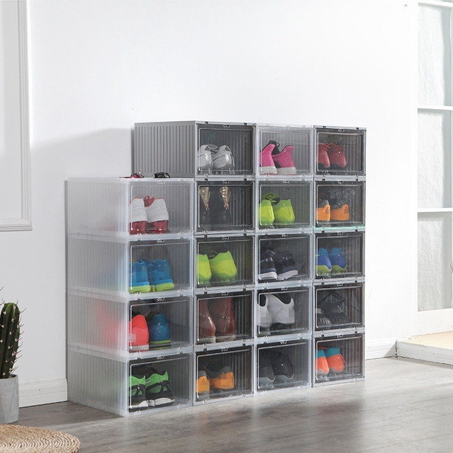 1Pcs Shoes Chest Drawers Stackable Drawer Shoe Storage Box Plastic Drawers  Shoe Box Thickened Flip Drawer