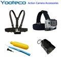 GoPro Acessórios Kit 4 em 1 Chest Strap Cabeça Correia Alça Flutuante saco de aderência para go pro hero sjcam sj4000 eken h9 xiaomi yi Cam
