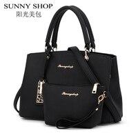 SUNNY SHOP Luxury Handbags Women Bags Designer Shoulder Leather Bag Women Famous Brand Purses And Handbags
