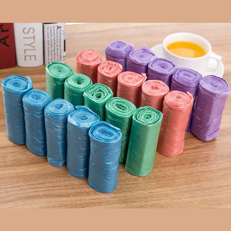 5 Rolls 100pcs Large Size Garbage Bags Single Color Thick