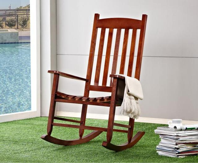Garden and Patio Wooden Rocking Chair Solid Wood Rocker American ...