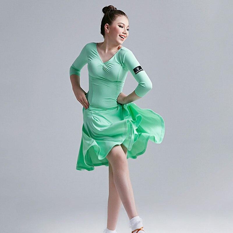 Здесь продается  6 colors blue latin dress for girls dance costume kids salsa dresses latino dance dress kids girls children latin dance dress  Одежда и аксессуары