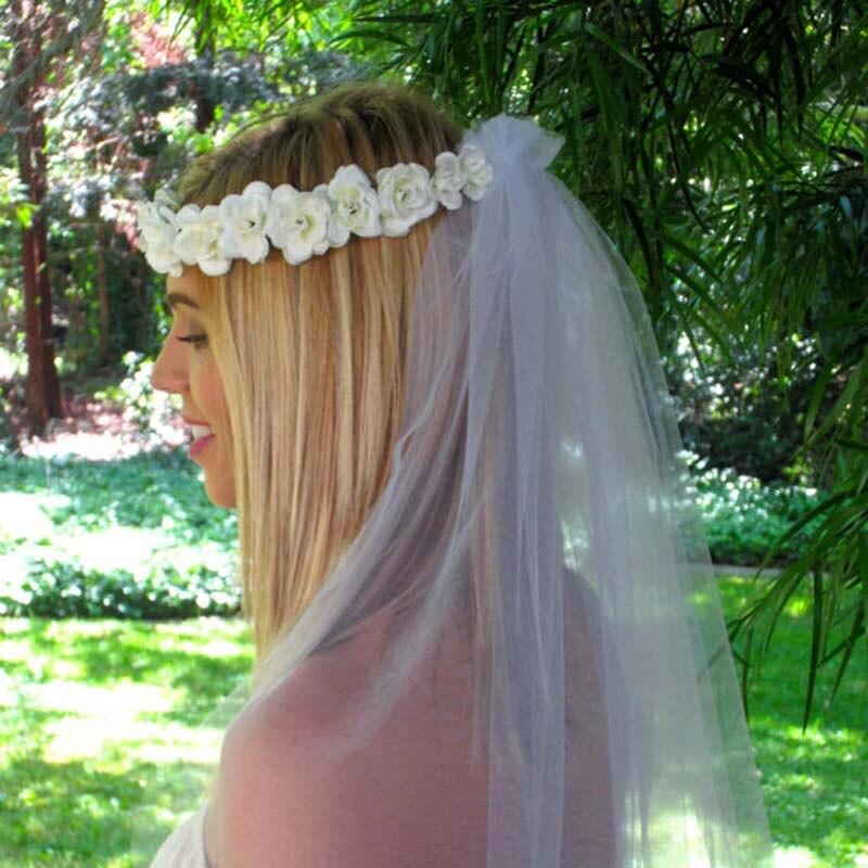 Summer Bohemia Handmade Flower Crown Wedding Wreath Bridal