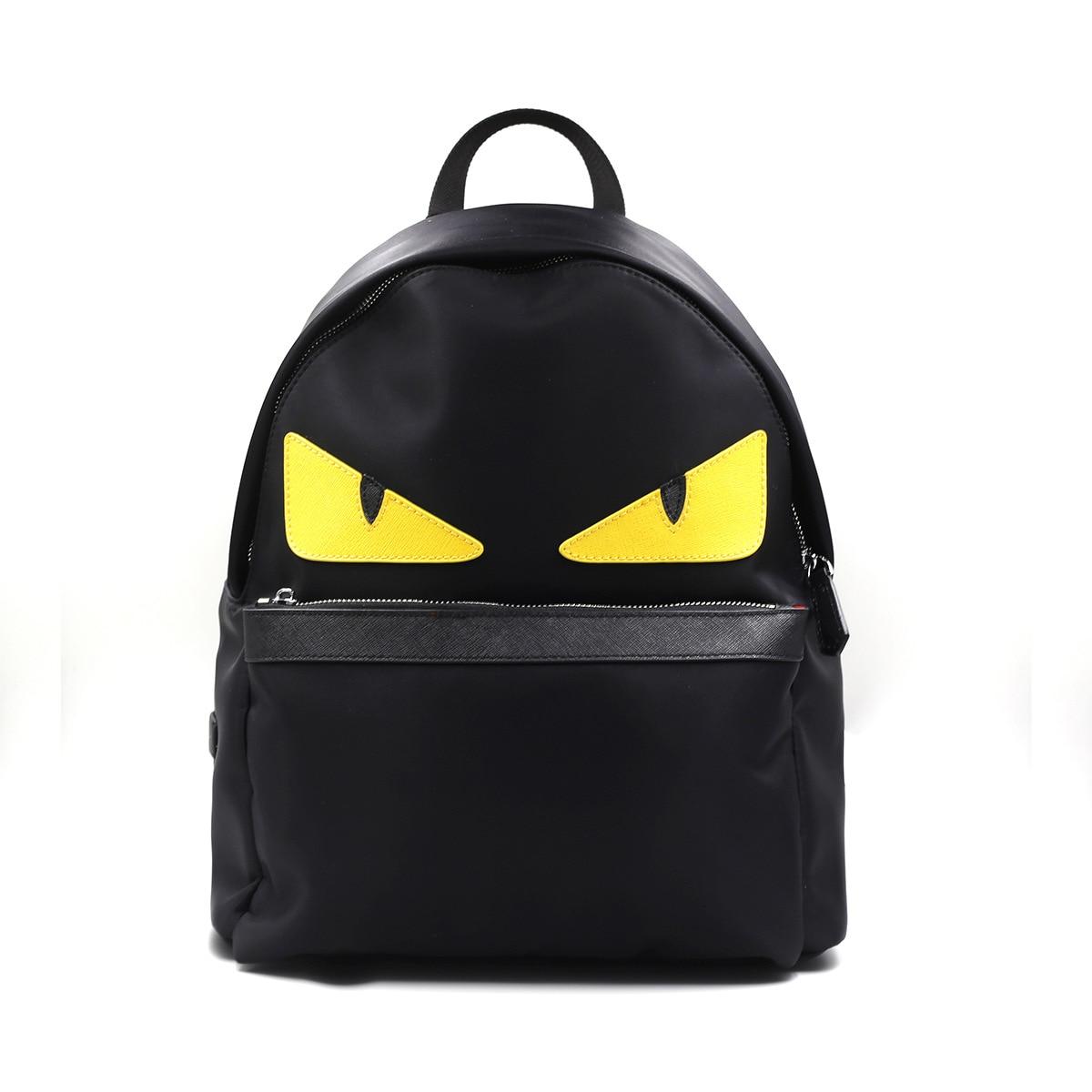 ФОТО Women Little Monster Backpack Eye Men Waterproof Import Oxfo Bags Printing School Bag for Teenagers Mochila Escolar Black