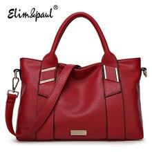 ELIM&PAUL Designer Handbag High Qulilty Fashion Women Handbag Top-handle Bags Vintage Tote Bag Women Crossbody Bags Ladies KK115