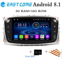 Quad 4Core Pure Android 8.1 Car DVD for Ford Focus Mondeo Focus C MAX S MAX C S Max Kuga Galaxy With HD Radio Rear View Camera