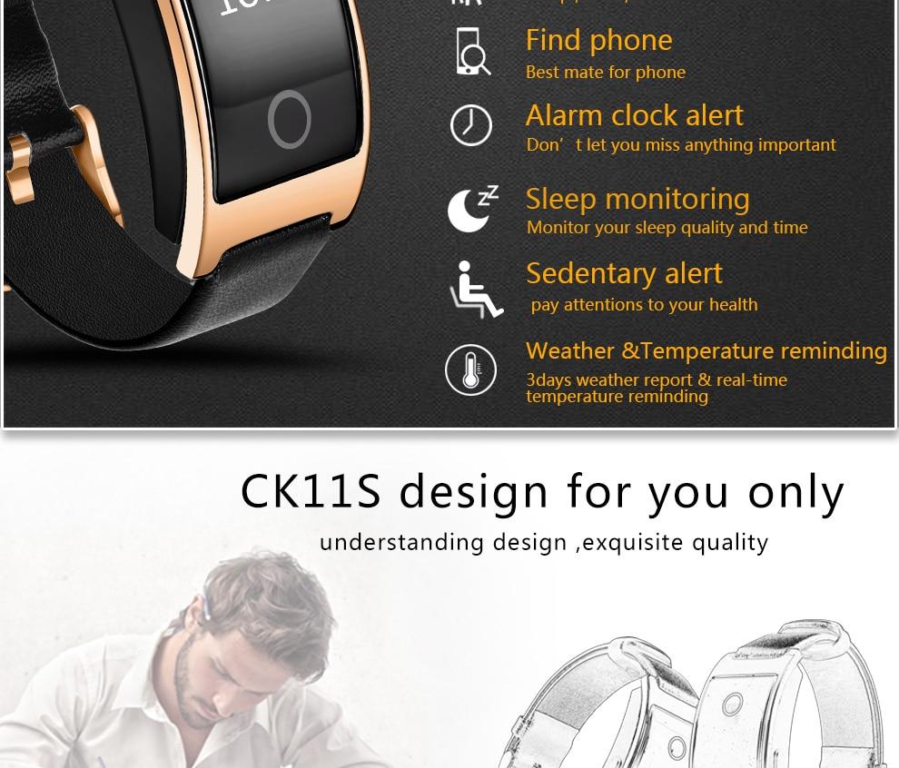 CK11S Wristband Blood Pressure Watch Blood Oxygen Heart Rate Monitor Pedometer IP67 Waterproof marigold 4