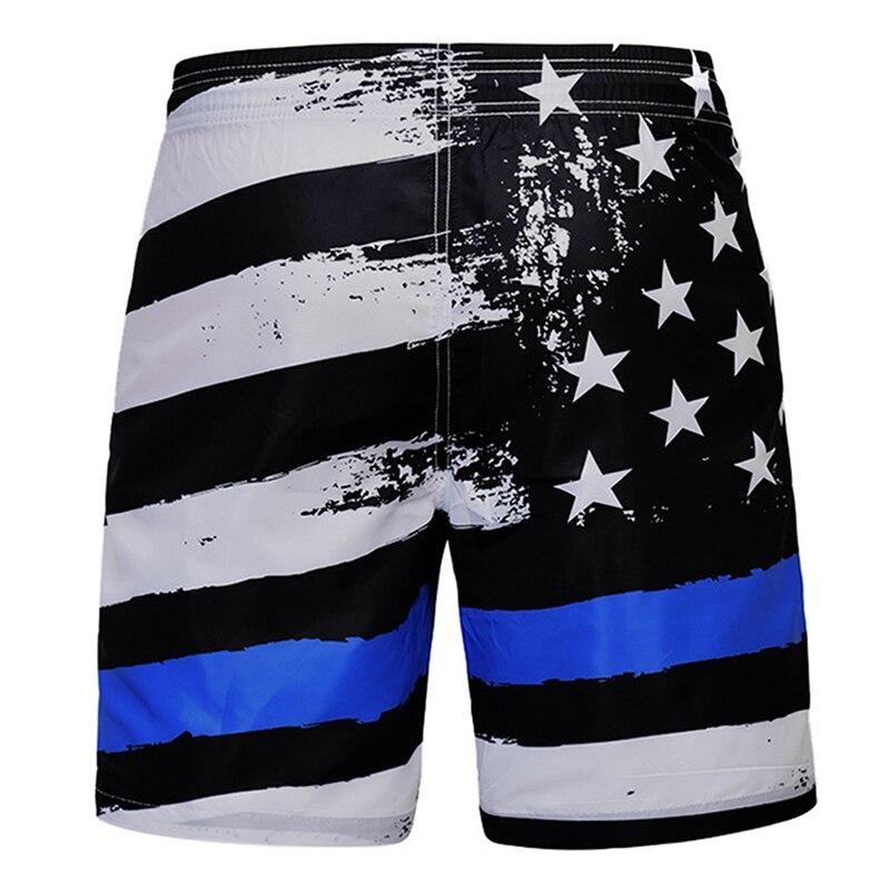 Men Personality Star Strip Flag Digital Print Quick Dry Beachwear Sports Running Swim Mesh Lining Board Shorts High Quantity(China)