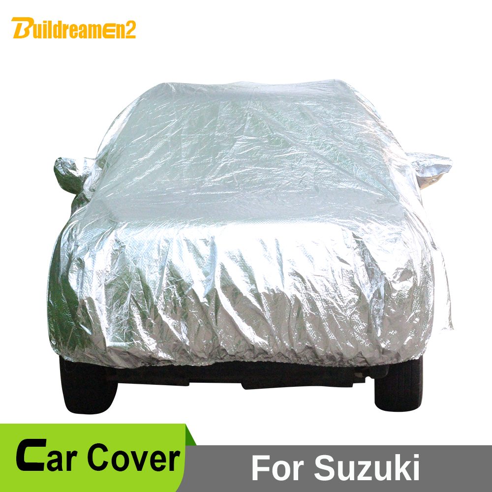 Buildreamen2 Waterproof Car Cover Sun Shade Anti UV Snow Rain Hail Scratch Protection Car Covers For Suzuki XL7 S-Cross SX4 buildreamen2 car cover waterproof suv anti uv sun shield snow hail rain dust protective cover for gmc terrain acadia envoy yukon