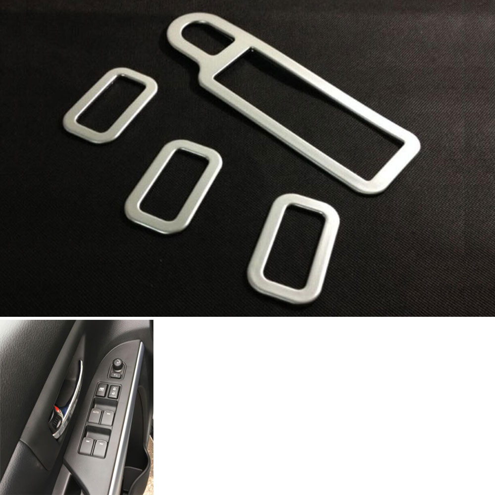 Car-Covers 4Pcs Car Interior Handle Armrest Window Sequins Switch Cover Sticker Trim for S-cross S Cross car styling accessaries