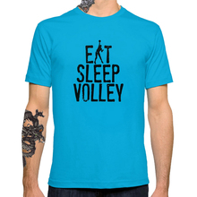 2017 Fashion Love Eat Sleep Volley Creative Printed Men's Customized T-shirt Casual Basic Tops Hipster
