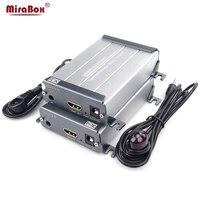 Mirabox HDMI RJ45 Extender видео адаптер передатчик и приемник ИК Поддержка 1080 P 100 м без задержки Cat5 Cat6 кабель Ethernet