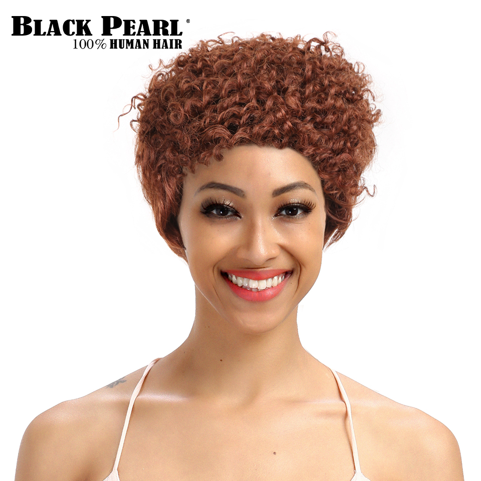 Aliexpress Com Buy Black Pearl Short Curly Wigs For