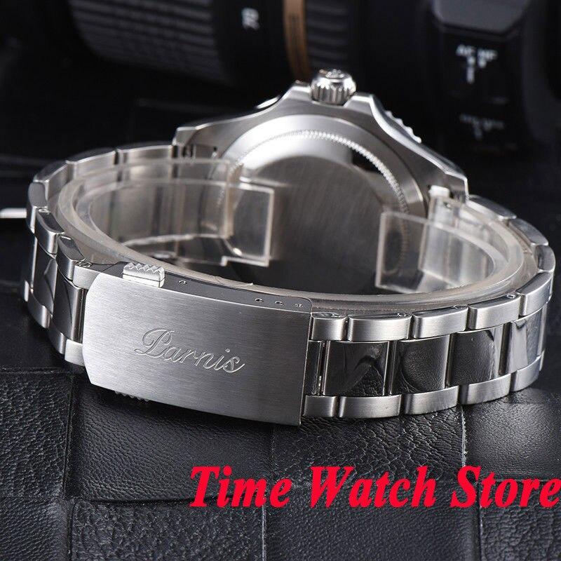 b3c53769aa3 Parnis 41mm azul mostrador do relógio vidro de safira dos homens luminosos  cerâmica bisel MIYOTA 5ATM 21 jewels Automático do relógio de pulso homens  938 em ...