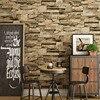 Chinese Style Retro 3D Stereo Embossed Brick Wallpaper Restaurant Cafe Bedroom Living Room Home Decor PVC