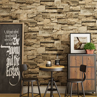 Chinese Style Retro 3D Stereo Embossed Brick Wallpaper Restaurant Cafe Bedroom Living Room Home Decor PVC