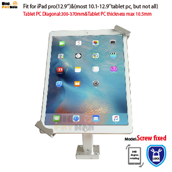 Tablet Stands Universal Tablet Wall Mounting Holder Anti-theft Mount Bracket Lock Holder Display Stand For 10.1-12.9 Ipad Samsung Huawei Asus