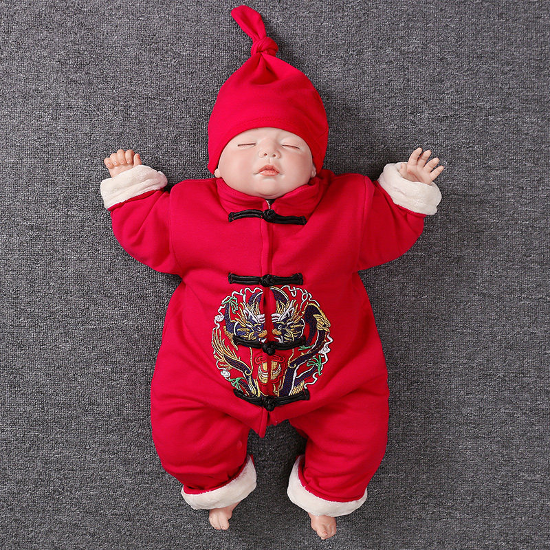 Baby Boy Rompers Winter Fleece Infant Jumpsuits Chinese Tang Costume 100 Days Celebration Clothing Set Newborn Toddler Clothes faber orizzonte eg8 x a 60 active