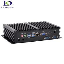 2016 новые Intel Core i3 5005u безвентиляторный мини-компьютер Barebone Промышленные ПК USB3.0 HDMI + VGA HTPC Windows 10, Win8, Linux