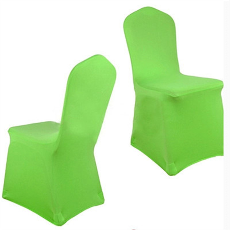 green universal spandex chair covers china for weddings decoration