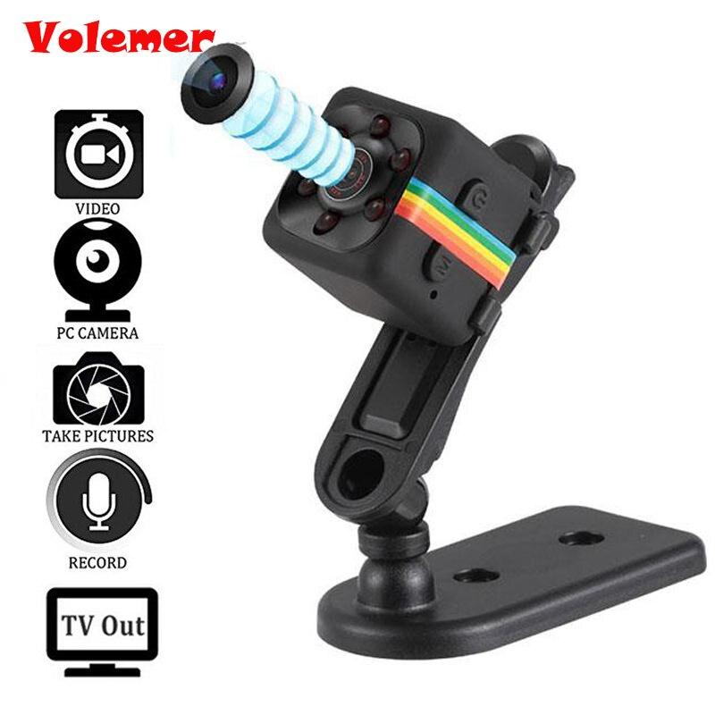 Volemer Mini Camera SQ11 SQ12 HD 1080P Camcorder HD Night Vision Mini Camera Aerial Sports Mini DV Voice Video Recorder PK SQ8