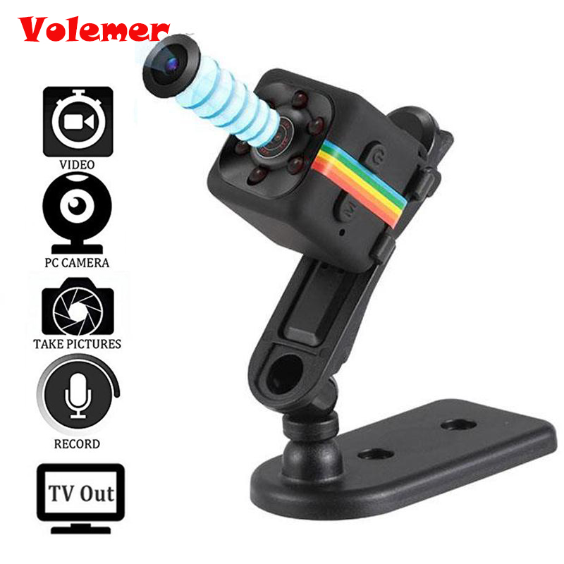 Volemer Mini Camera SQ11 SQ12 HD 1080P Camcorder HD Night Vision Mini Camera Aerial Sports Mini DV Voice Video Recorder PK SQ8