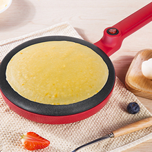 лучшая цена Behogar Electric Crepe Maker Pizza Pancake Machine Home Kitchen Cooking Tools Non-Stick Griddle Baking Pan Cake Machine  EU Plug