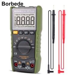 Borbede 168A Цифровой мультиметр 6000 Граф AC DC Напряжение тока, сопротивления, емкости прямоугольный Выход True RMS мини-тестер