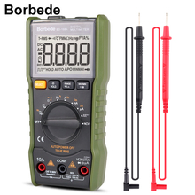 Borbede 168A мультиметр Digital Multimeter 6000 Count DC AC Capacitance Resistance Square-wave Output Mini Tester