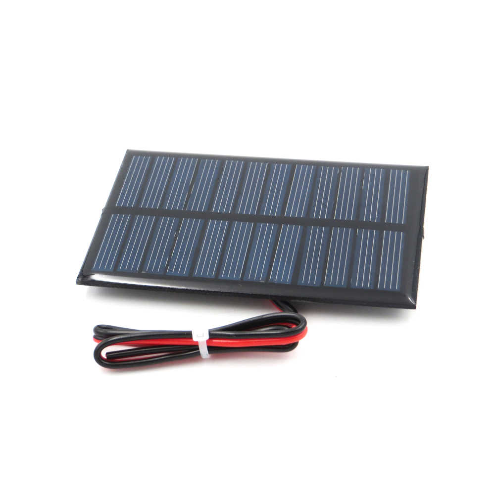 5 V 150mA 0.75Watt extend wire Polycrystalline Silicon DIY Battery Charger Small Mini Solar Cell Panel education 5V Volt