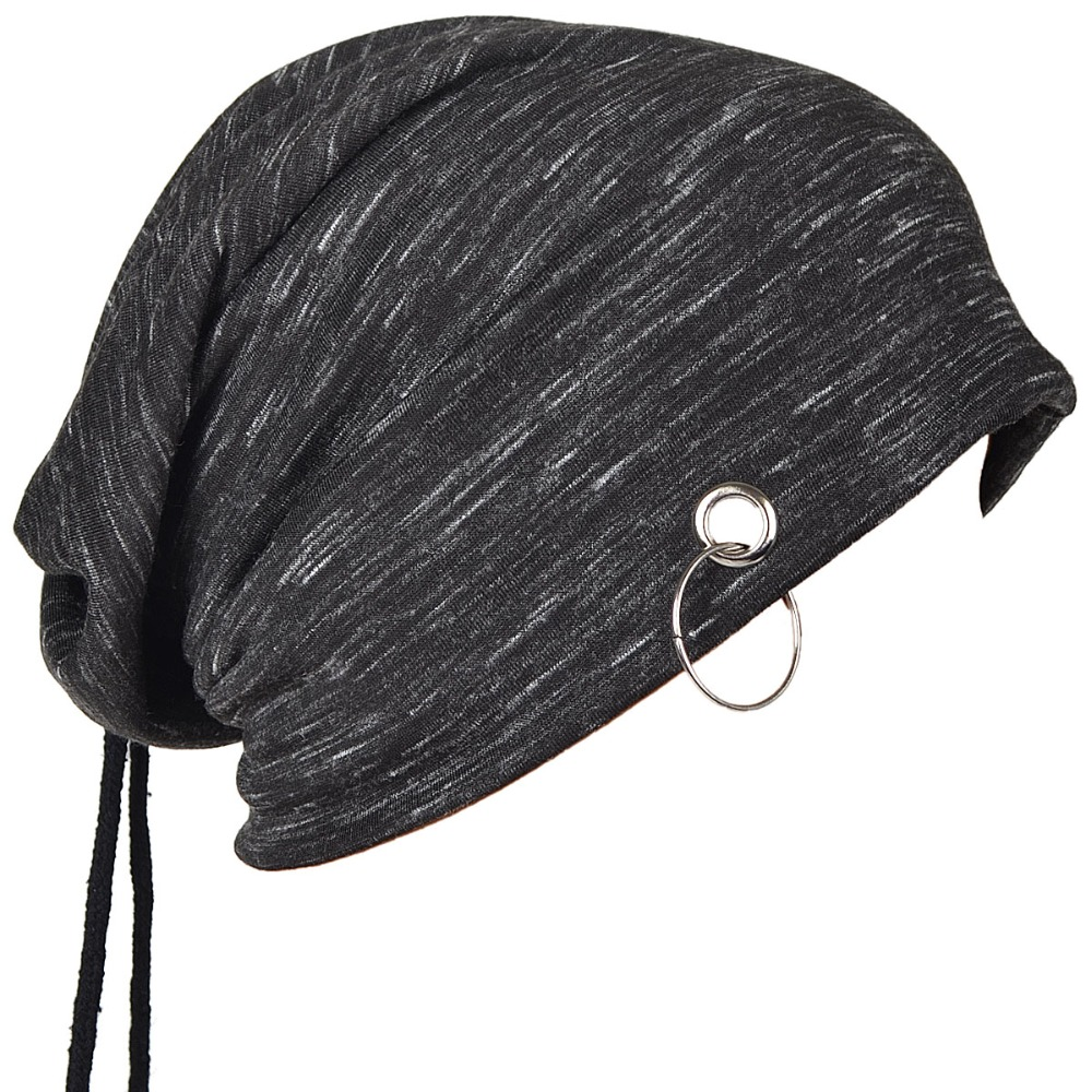 Mens Beanie Cap Skullcap Thin Summer Hat Cool Ring Hair Band Hat FORBUSITE pair of gorgeous beads triangle earrings for women