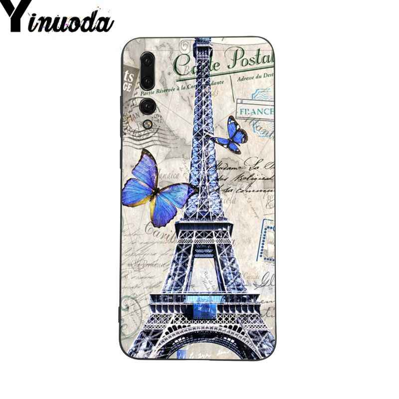 Yinuoda Eyfel Kulesi paris aşk pembe Tasarım telefon kılıfı için Huawei P9 P10 Artı Mate9 10 Mate10 Lite P20 Pro honor10 View10