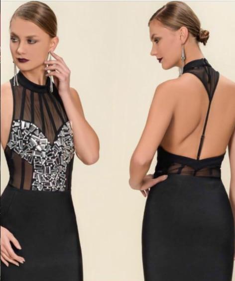 neueste dress abend kleider f sommer herbst bodycon sexy kristall verband 2017 kleidung schwarz halter mini orxBedC