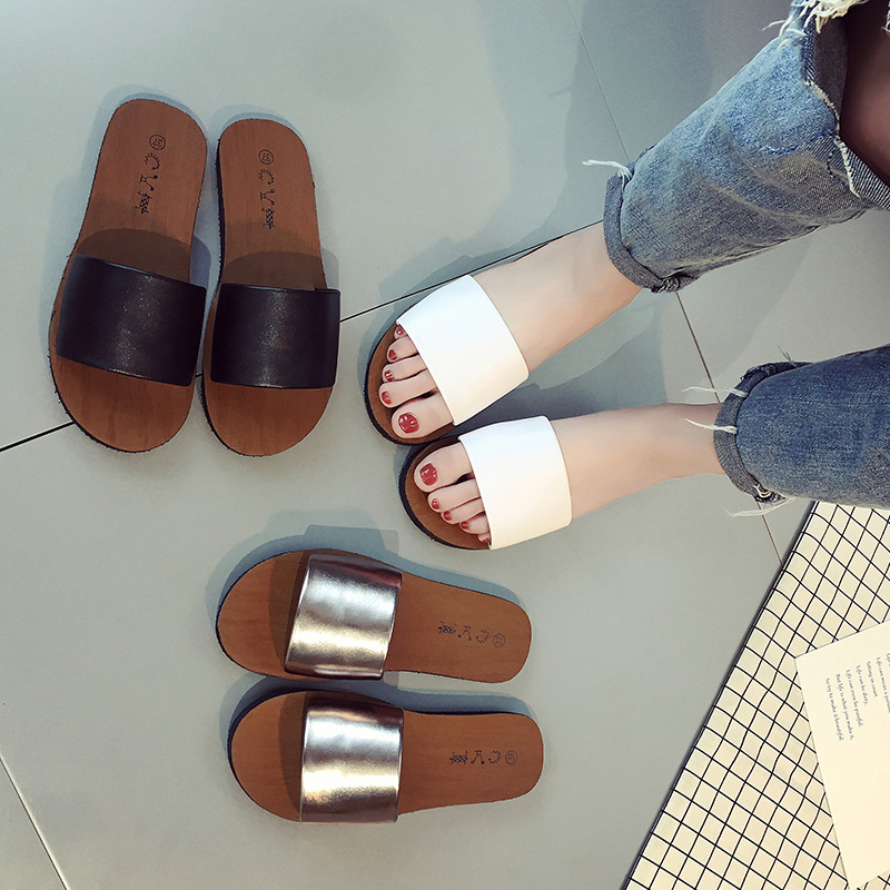Word slippers female 2017 flat heel slip-resistant brief fashion outdoor slippers casual sandals segal business writing using word processing ibm wordstar edition pr only