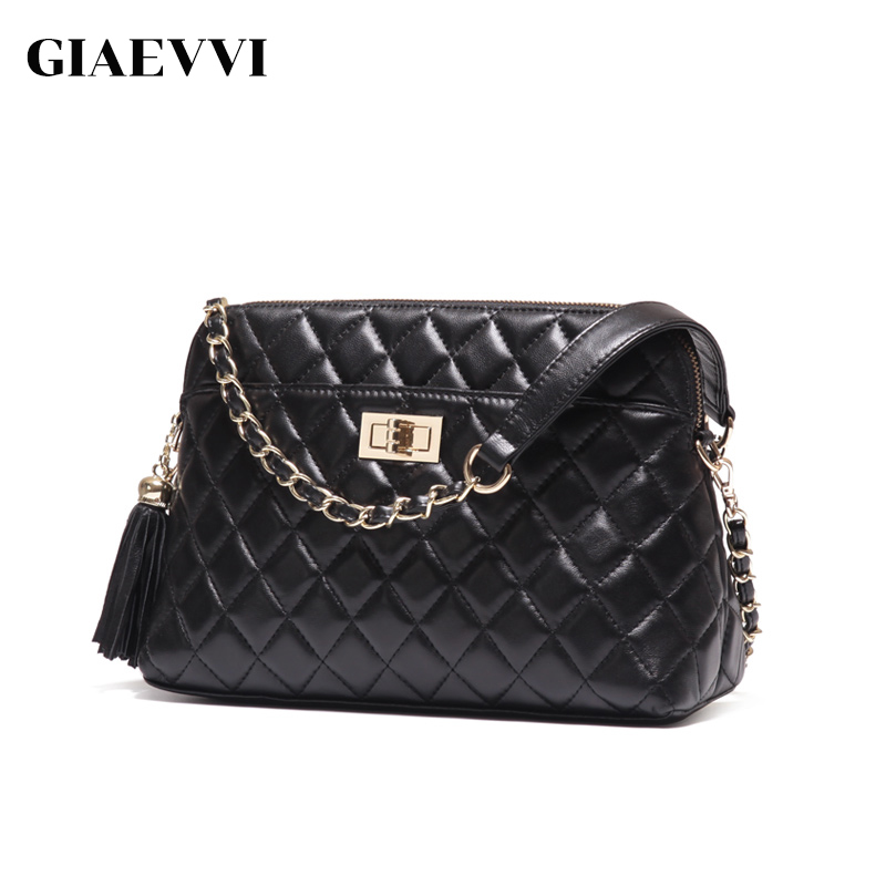 GIAEVVI Women Messenger Bag Genuine Leather Handbag Fashion Clutch Lady Shoulder Bag Luxury Designer Handbags Crossbody for Girl giaevvi luxury handbags split leather tote women messenger bags 2017 brand design chain women shoulder bag crossbody for girls