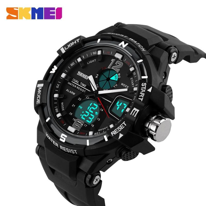 9dff2f933 SKMEI Brand Luxury Digital Analog Men Sports Watch Fashion Military LED Watch  Casual Swim Outdoor Shock Wristwatches 1148