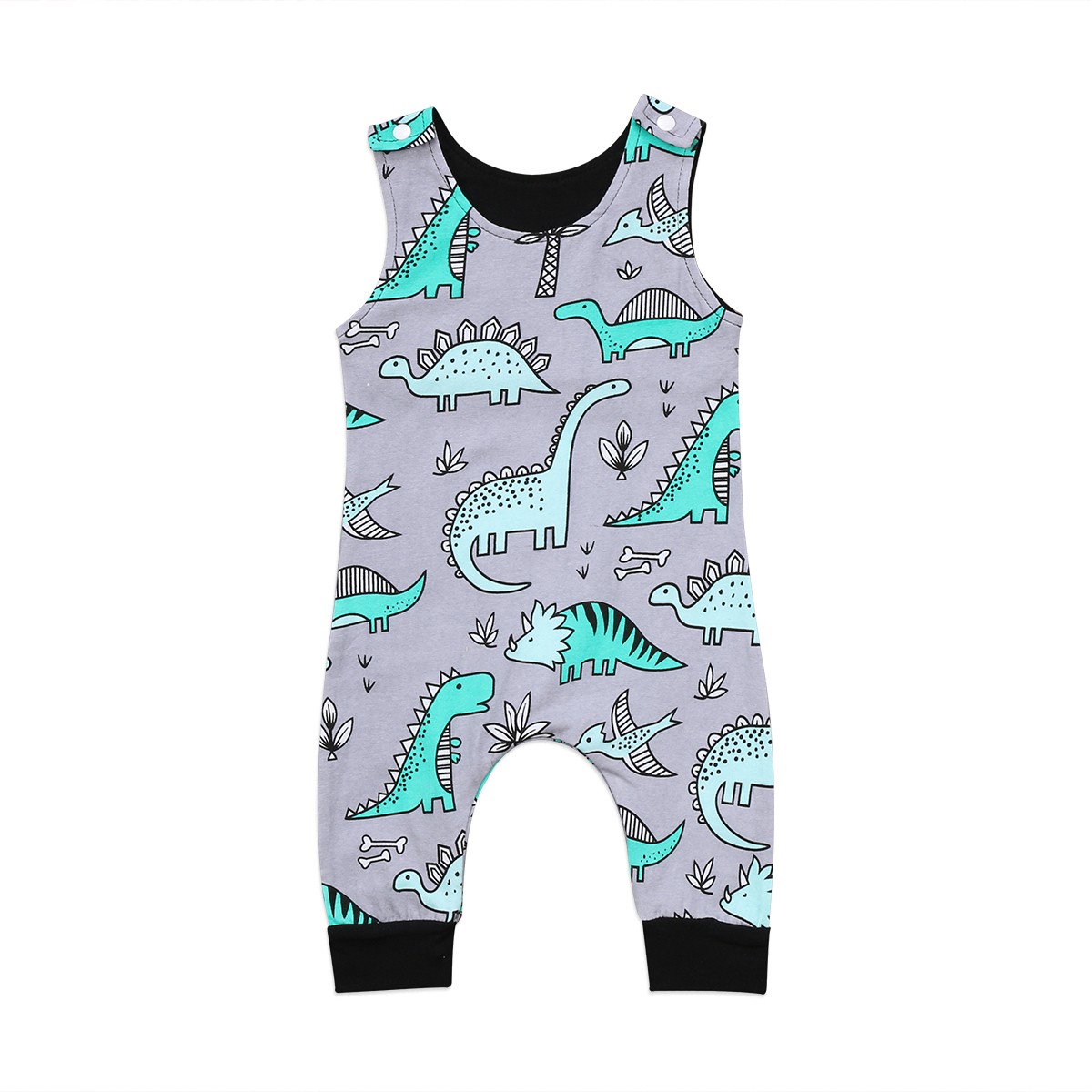 Baby Rompers Fashion Newborn Baby Boy Romper Sleevelss Jumpsuit Clothes Dinosaur Baby Clothes Cotton Outfits 0-24M 2pcs set newborn floral baby girl clothes 2017 summer sleeveless cotton ruffles romper baby bodysuit headband outfits sunsuit