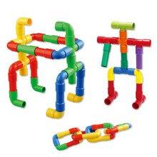 Kids Educatief Speelgoed Pijplijn Tunnel Blokken Diy Bricks Speelgoed Pijp Blokken Training Speelgoed Kind Gift Familie Bordspel SA894438