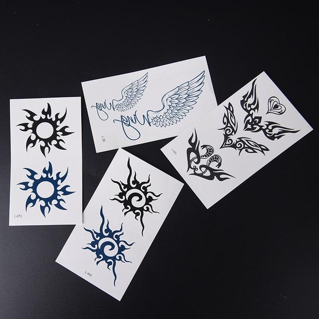 2 Unidsset Agua Transferencia Tatuaje Minimalista Sol Ala Del ángel