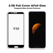 10PCS 100% full glue Premium 2.5D 9H 0.3mm Full Cover Screen Protector Tempered Glass For Huawei Honor V10 View 10 Film