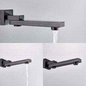 Image 5 - Bathroom Faucet Black Bronze Rain Shower Bath Faucet Ceiling Mounted Bathtub Shower Mixer Tap Bathroom Shower Faucet Shower Set
