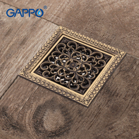 GAPPO Drains Antique Brass Drain Plug Bathtub Shower Drain Bathroom Floor Drains Chrome Plugs
