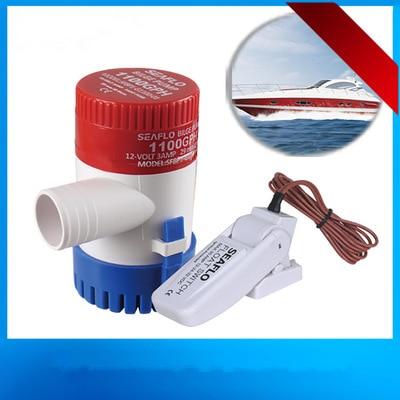 Livraison gratuite Dc 12 v/24 v pompe de cale avec interrupteur à flotteur de cale 1100GPH pompe à eau électrique pour bateaux, pompe à eau de bateau submersible