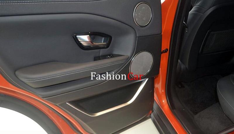 For Land Rover Range Rover Evoque 2011-2016 Interior door decoration strip trim 4pcs/set wiper blades for land rover range rover evoque 23