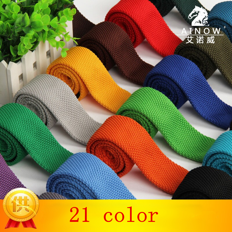 Men Fashion Tie Men Knit Ties Knitted Necktie Knitting Crochet Collar Lace Knitted Tie Black MEN Clothing Styles