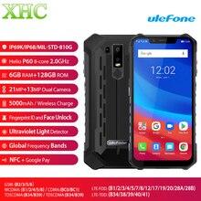 Ulefone Zırh 6 Android 6.2 Cep Telefonu 6 GB 128 GB Helio P60 Octa Çekirdek Parmak Izi Kablosuz Şarj NFC çift SIM 4G Smartphone