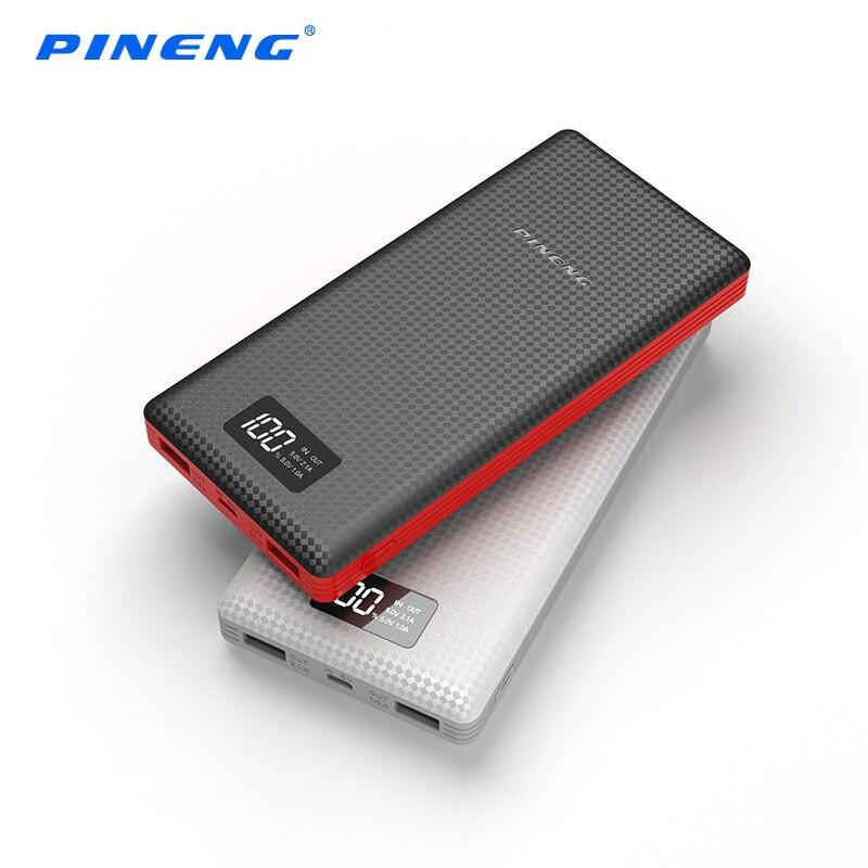 imágenes para Original Pineng banco de la Energía 20000 mAh LCD Dual USB Powerbank Polímero Cargador de Batería Externa Portátil para ipad iphone xiaomi