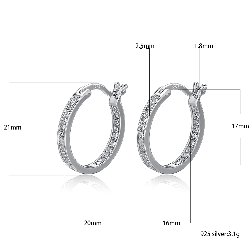 Round 8Mm Basic Ear Studs 925 Sterling Silver With Handmade Prong Setting For Women and Girls