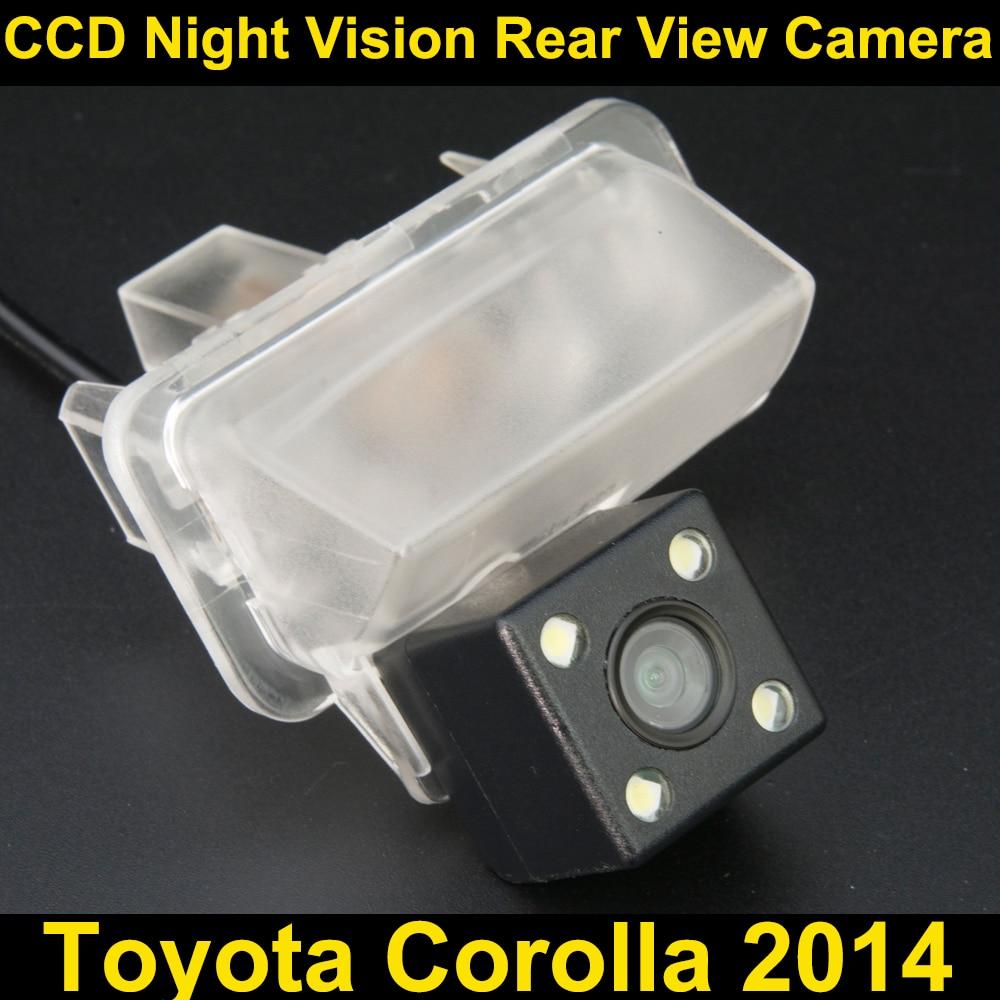 Car rear view camera for Toyota Corolla 2014 CCD Night Vision BackUp Reverse Parking Camera mayitr 1 set 4 3 foldable lcd monitor night vision car rear view reverse backup camera kits for car parking
